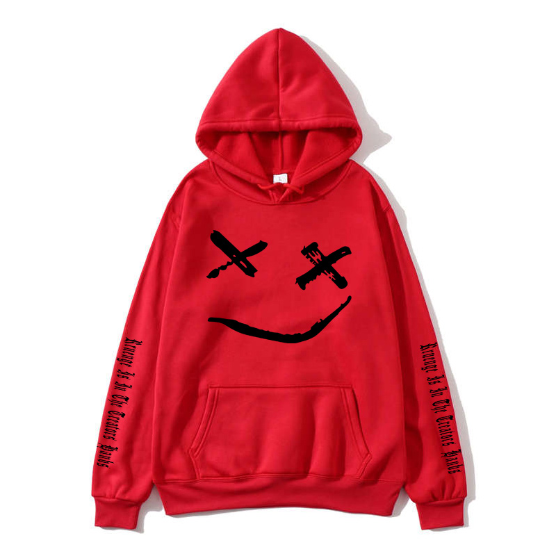 2019 new fashion unisex youth smiley fashion print long sleeved O neck ladies hooded sweatshirt high street ladies style in Hoodies amp Sweatshirts from Women 39 s Clothing