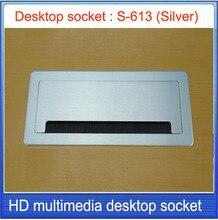 Tabletop socket /hidden/USB interface Network RJ45 Information outlet /Office conference room High-grade desktop socket S-613