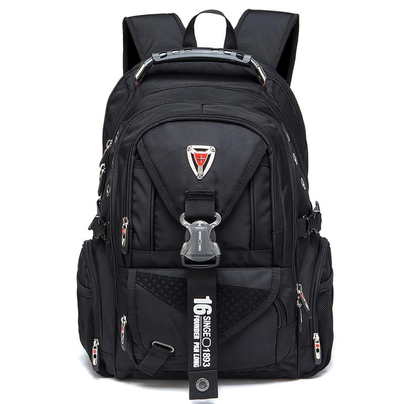Nueva mochila de viaje suiza para ordenador portátil de 2018, mochilas escolares para estudiantes, mochila de negocios a prueba de agua de 17 pulgadas-in Mochilas from Maletas y bolsas    1