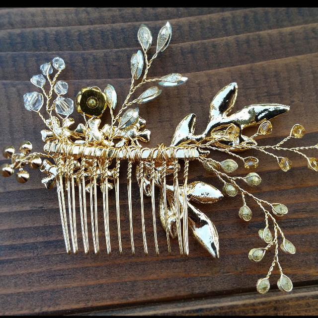 Floral Crystal Hair Pins 4