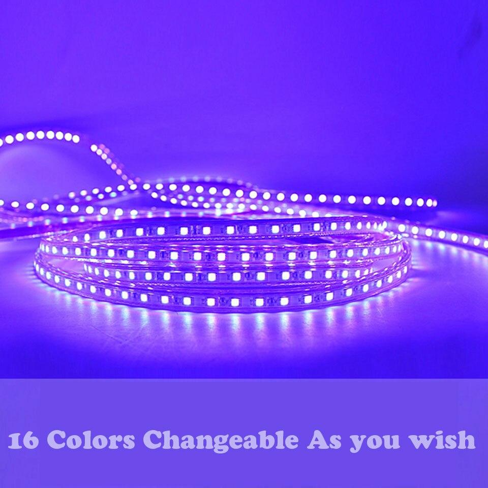 20m 21m 25m SMD RGB 5050 LED Strip 220v Waterproof Led Lights IP65 ...