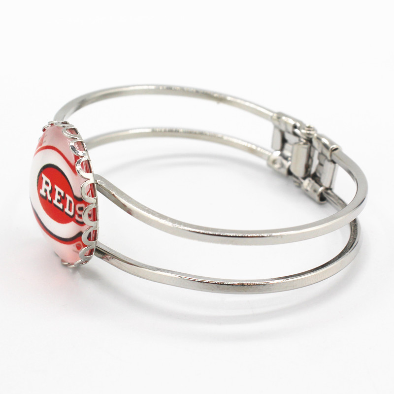New style silver alloy bracelet sports bracelets team Cincinnati Reds charms for sports fans fashion bracelets jewelry