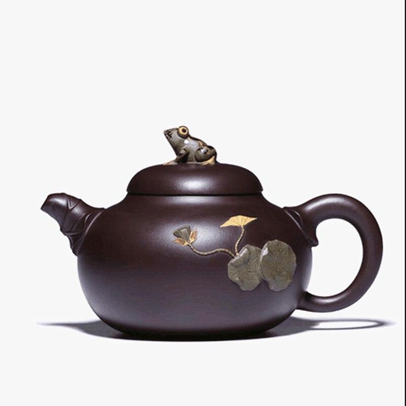 2019 Mode High End Teekanne Handgemachte Lila Ton Material Hohe Qualität Chinesischen Tee Topf Für Tee Küchenmaschine Werkzeug Topf