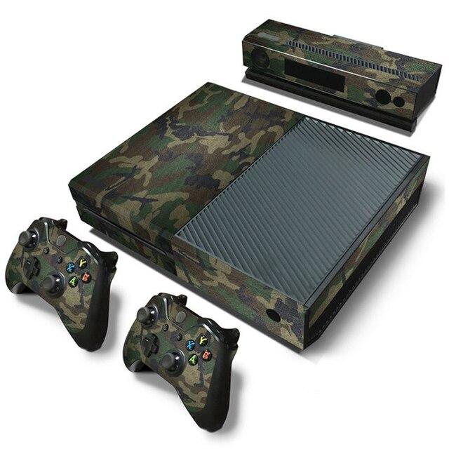 Camuflaje Game Cosole pegatinas de piel Calcomanía para Xbox One Console piel de vinilo + 2 uds pegatinas del controlador