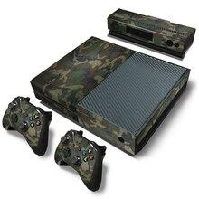 التمويه لعبة كوسولي لصقة جلد صناعي ملصقات ل Xbox One وحدة التحكم جلد فينيل + 2 قطعة تحكم ملصقات