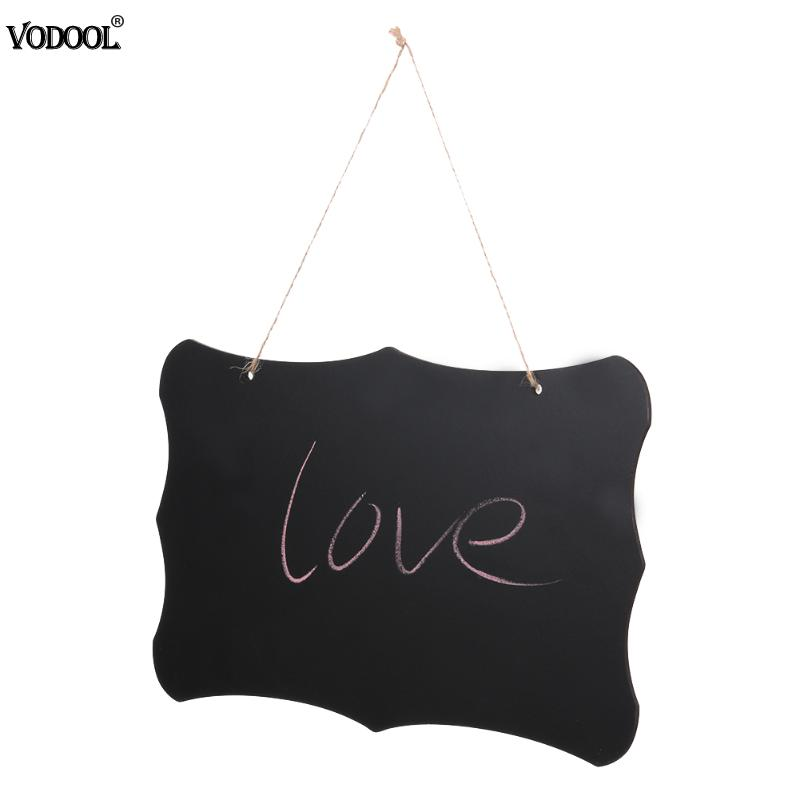 VODOOL Hanging Chalkboard Wooden Blackboard Double Sided Erasable Message Board Wordpad Black Board For Office School Supplies
