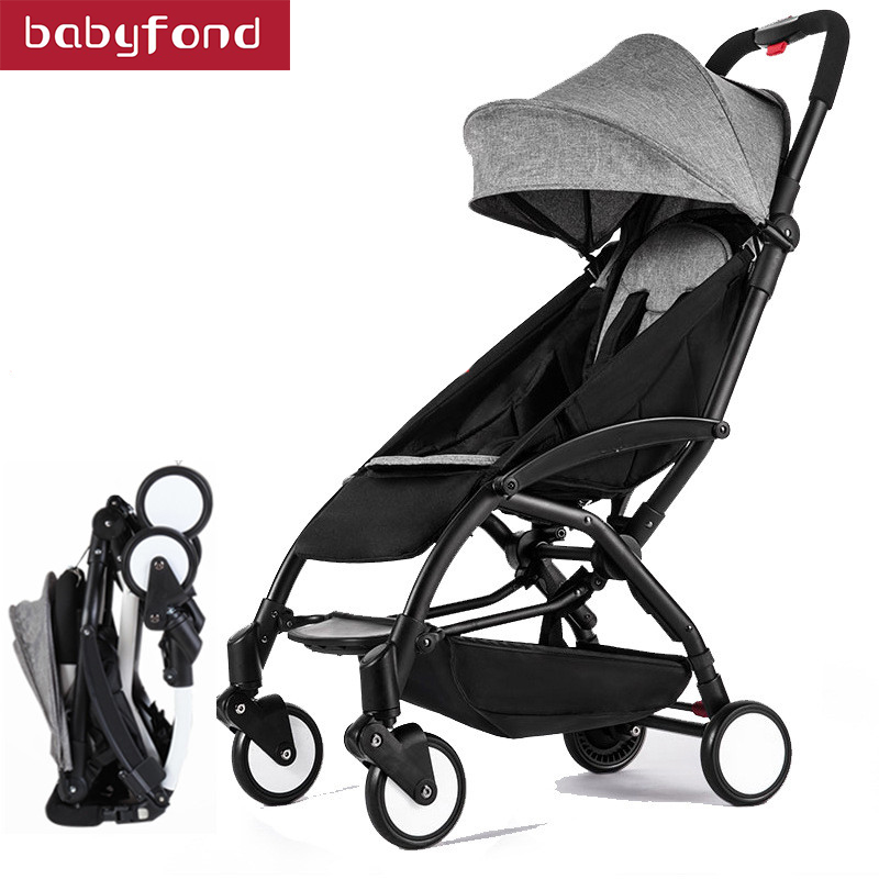 все цены на Babyfond stroller ultra-light folding trolley baby can sit and lie carts can be on plane umbrella carts
