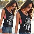 # Camisetas Mujer Ocasional 2016 Impressão Verão T Shirt Mulheres de Slim o pescoço Preto Sexy Tops Camiseta Femme Ete Feminina T-shirt flor