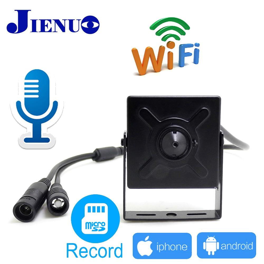 JIENU CCTV Segurança Mini Câmera Ip wi-fi 720 P 960 P 1080 P Vigilância Suporte de Áudio Micro Slot SD Ipcam home sem fio Cam Pequena