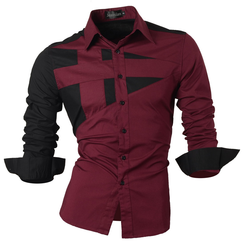 2018 Spring Autumn Features Shirts Men Casual Jeans Shirt New Arrival Long Sleeve Casual Slim Fit Male Shirts Collection S