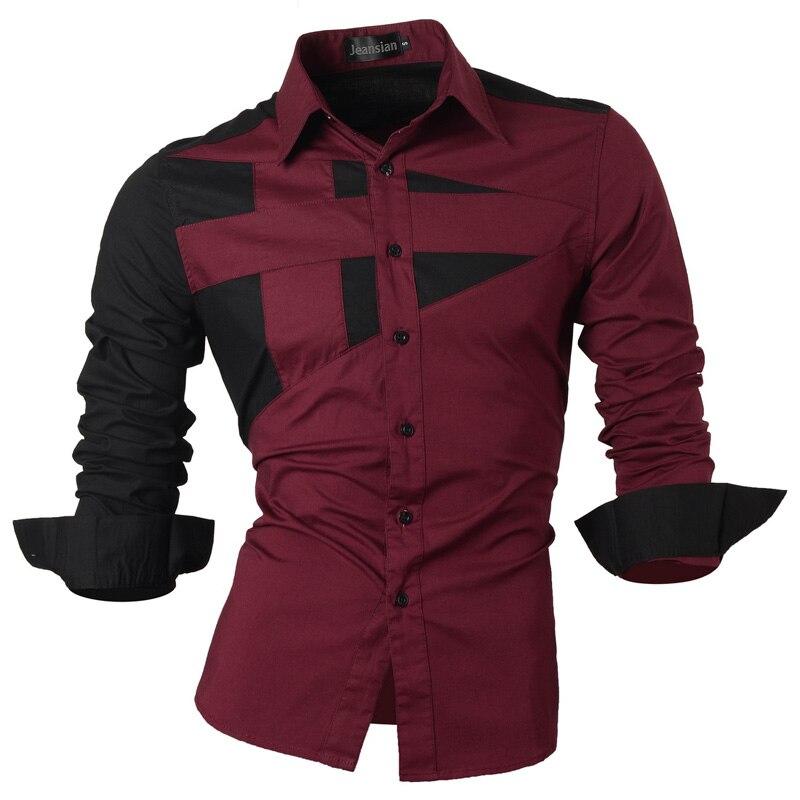 2018 Демисезонный Особенности Рубашки для мальчиков Для мужчин повседневные джинсы рубашка новое поступление с длинным рукавом Повседневное Slim Fit Мужской Рубашки для мальчиков коллекция s