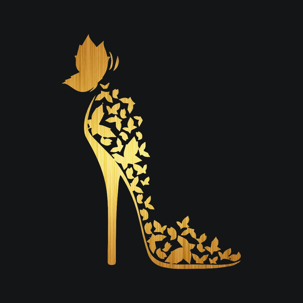 Rylybons Butterfly High-heeled Shoes Full Body Car Sticker Styling Decoration Door Body Window Decals Car Bumper Vinyl Sticker