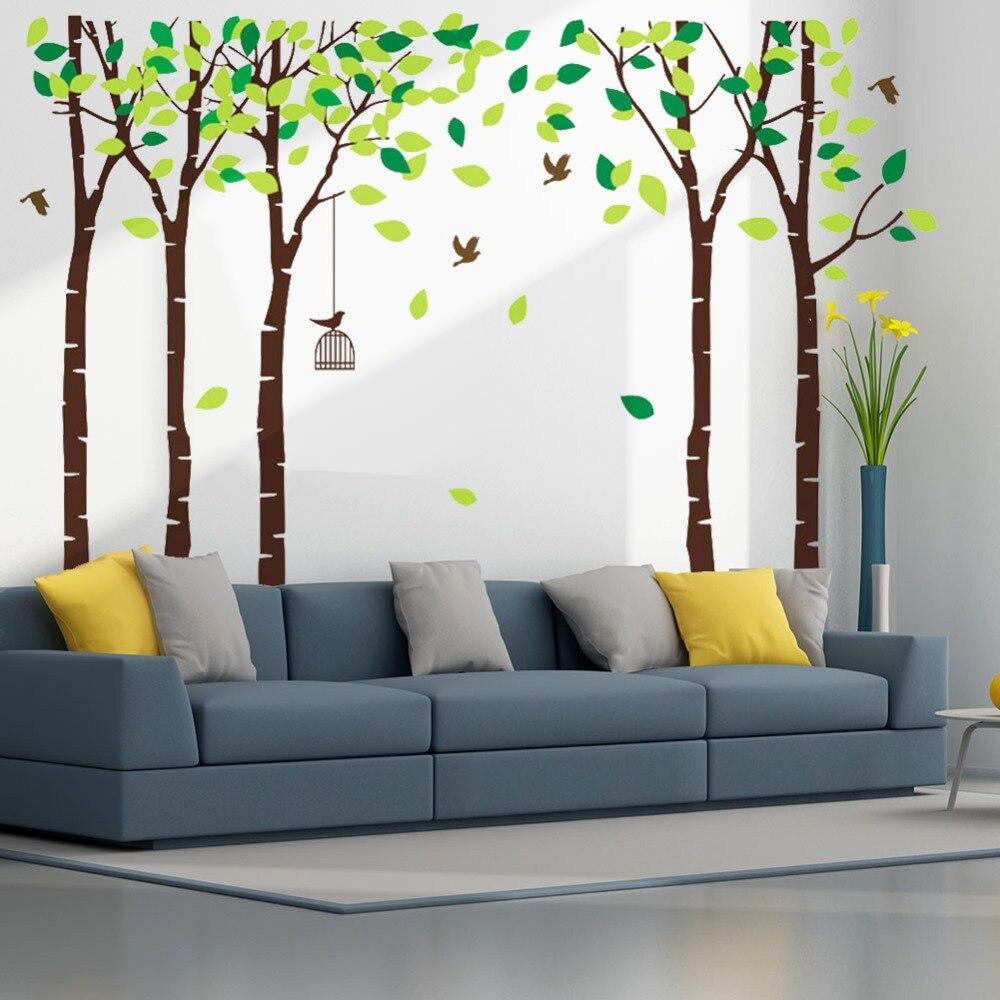 Nuovo 5 Adesivi Murali Alberi Foresta Murale per Camera Da Letto Kid ...