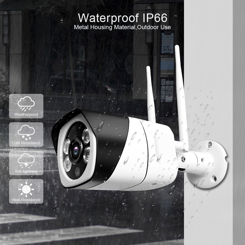 HD 5MP Wifi IP Camera ONVIF 1080P Wireless Wired CCTV Bullet Camera Outdoor Two Way Audio HD 5MP Wifi IP Camera ONVIF 1080P Wireless Wired CCTV Bullet Camera Outdoor Two Way Audio TF Card Slot Max 64G IR 20m P2P iCsee