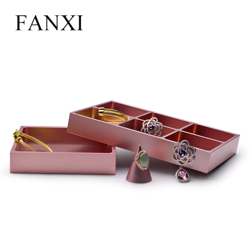 Fanxi Rose Gold Metal Jewelry Display Stand Ring