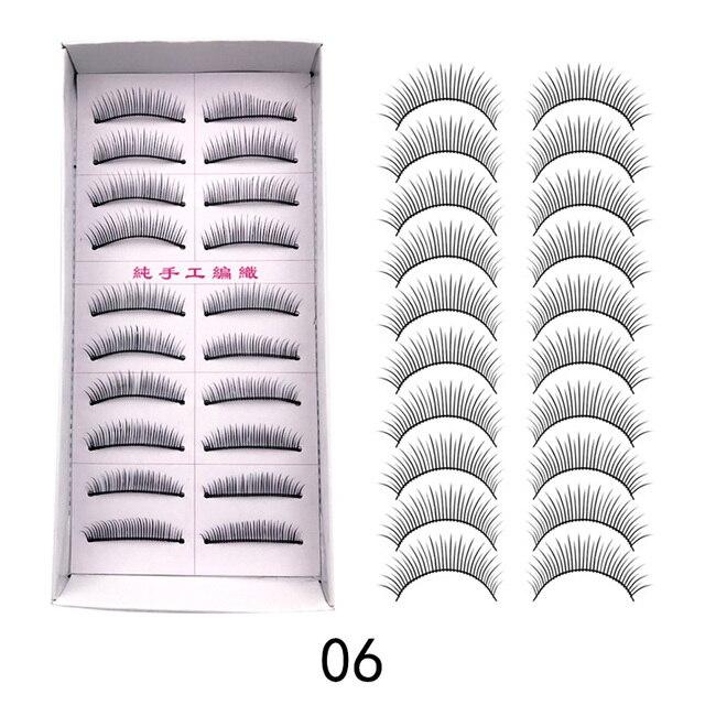 11 Kinds Of 10 Pairsbox Natural Fashion Eyelashes Eye Makeup