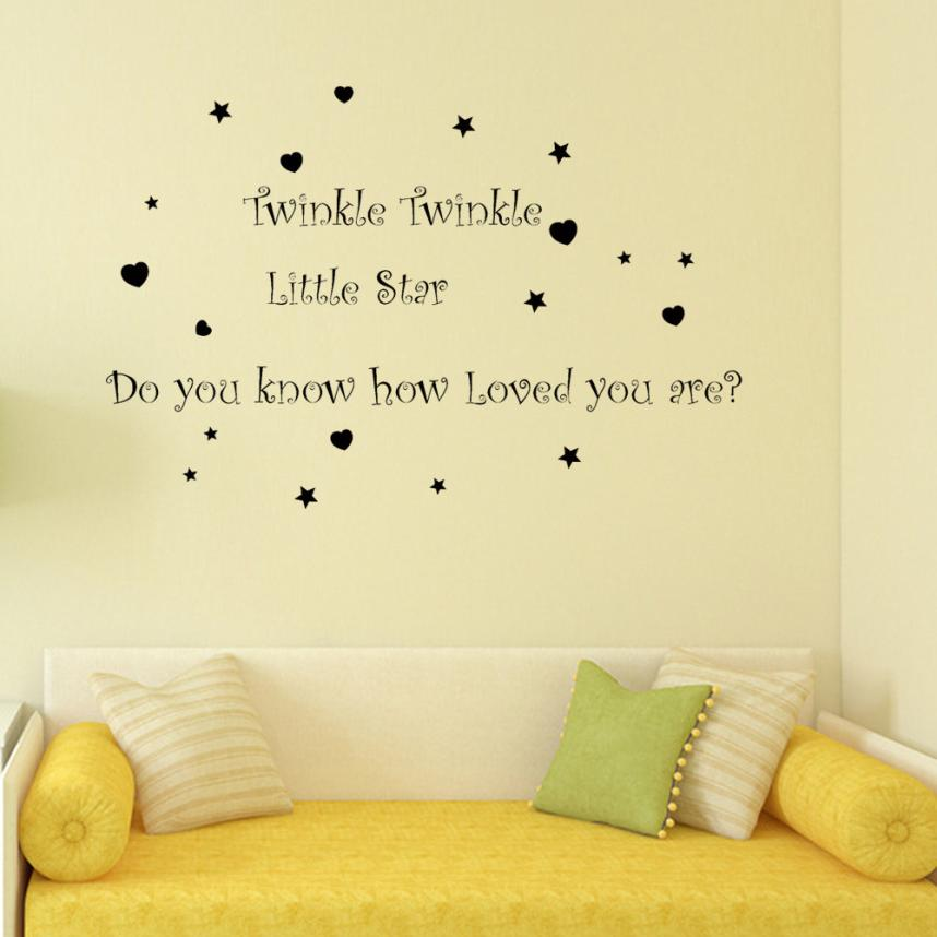 Home Decor Twinkle little Star Removable Mural Wall Stickers Wall Decal Room Home Decor wall sticker Home Deco mirror AU4