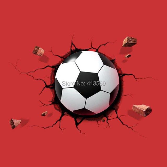 groothandel 3d voetbal verlichting voetbal deco wand geleid ...
