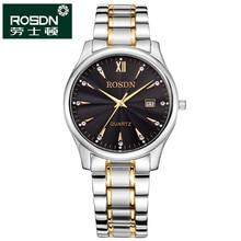 ROSDN 2016 Watches Women Luxury Brand Quartz Watch Men Full Steel Wristwatches Dive 50m Fashion couple