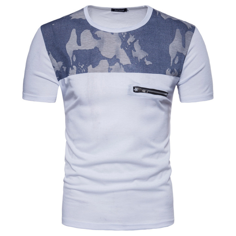 New Men's Fashion tshirts Short Sleeve T shirts Summer Printed Pullover Mens clothing Tops brand men t-shirt