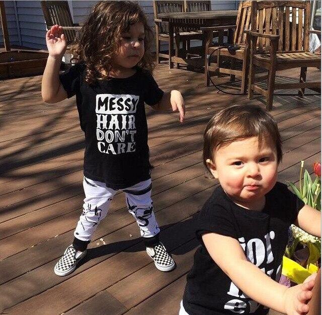 baby clothing set boys girls summer T-shirt+ pants 2pcs Infant toddler boys clothes sets conjunto roupas de bebe infantil INS