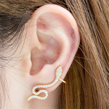 Rose Gold CZ Snake Ear Jacket Earrings For Women Reptile Jewelry Animal Crystal Stud Earrings Dainty.jpg 350x350 - Rose Gold CZ Snake Ear Jacket Earrings For Women Reptile Jewelry Animal Crystal Stud Earrings Dainty Boucle D'oreille Femme 2020