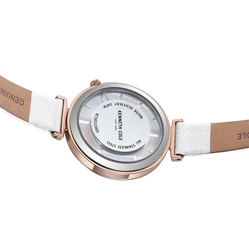 cb019732f6b ... Luxury Brand Watch KC50232003. . 2018 New Kenneth Cole Womens Watches  See-through Quartz Leather Buckle Strap White Pink Waterproof. sku   32866672335