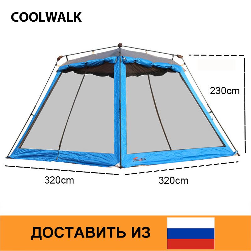 Ship From RU Summer Mesh Tent Anti Mosquito Breathable Family Beach Party Tents Rainproof Roomy Large Outdoor Tent 5 8 Persons