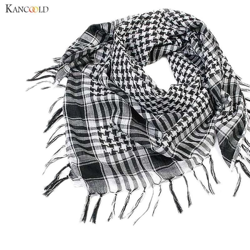 Shemagh Scarf Keffiyeh Arab Wrap Army Military Tactical Desert Neck 100/% Cotton Mens Veil Head Cuadros Unisex Head Scarf