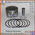 New and high precision good quality low price wholesale aluminum alloy motorcycle engine parts AT125 piston and rings kit