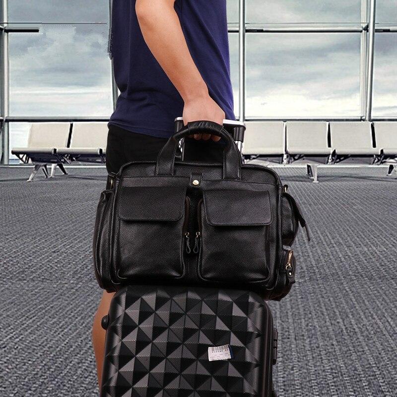 100% Natural First Layer Cow Leather Mens Handbag Casual 15 Laptop Shoulder Bag Genuine Leather Business Mens Travel Bags 100% Natural First Layer Cow Leather Mens Handbag Casual 15 Laptop Shoulder Bag Genuine Leather Business Mens Travel Bags