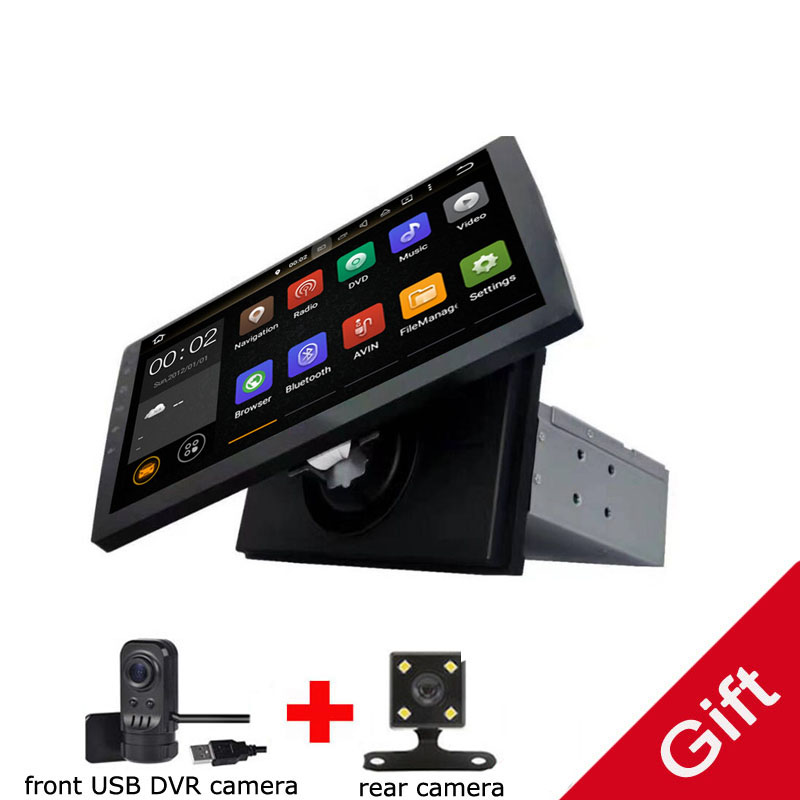 Universal 1 din Android 9.0 Octa Core Car DVD player GPS Wifi BT Radio BT Network Steering wheel RDS image