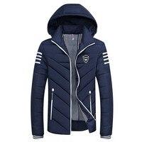 M 8XL Winter Jacket Men 2017 Hat Detachable Warm Coat Cotton Padded Thick Parka Men Brand