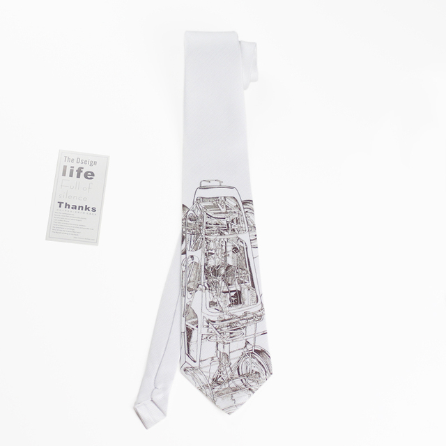 original design dress tie casual party tie machinery creative valentines birthday gift for man hombre atar
