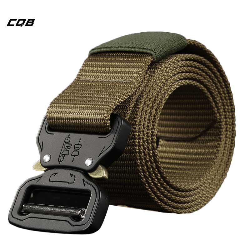 CQB Outdoor Sport Tactical Military Männer Gürtel tragen-wider Nicht-slip Atmungsaktiv Schnell Trocknend Nylon Gurtband Heavy Duty gürtel