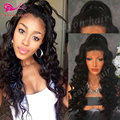 long wavy synthetic lace front wig glueless big deep wave synthetic heat resistant wigs for black women front lace wig synthetic