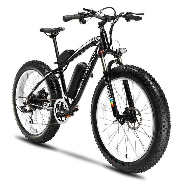 Cyrusher XF660 Ман 48 V 500 W Электрический горный велосипед 7 Скорость механические дисковые тормоза с спереди светом и колокола Fat Tire Ebike