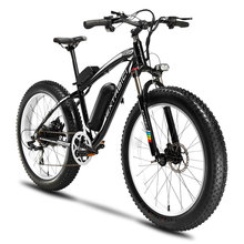 Cyrusher XF660 Mans 48V 500W Electric Mountain Bike 7 Speed Mechanical Disc Brakes with Front Light and Bell Fat Tire Ebike