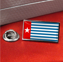 High quality and low price West Papua Flag Lapel Pin Badge / Tie Pin custom made metal craft country flag lapel pin FH68001 high quality and low price bulgaria flag lapel pin badge tie pin custom metal craft country flag lapel pin fh68002