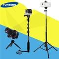 Yunteng 188 o 228 o 1688 mini trípode 3 en 1 autorretrato monopod teléfono selfie stick bluetooth autodisparador polo para gopro pho