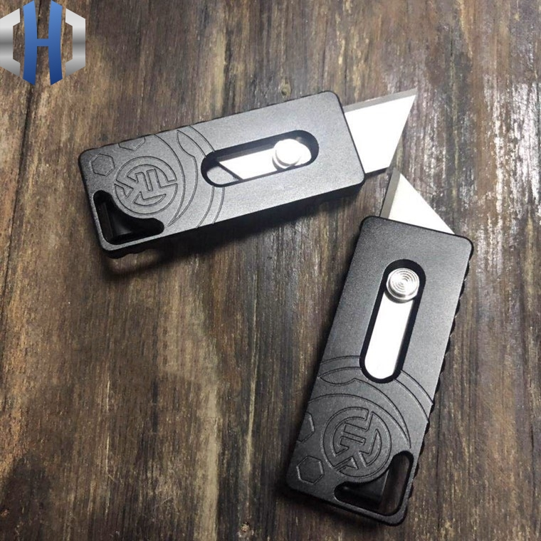 Two Step Paper Cutter Outdoor Field Survival Tool Knife Cut Open Express EDC Pocket Knife