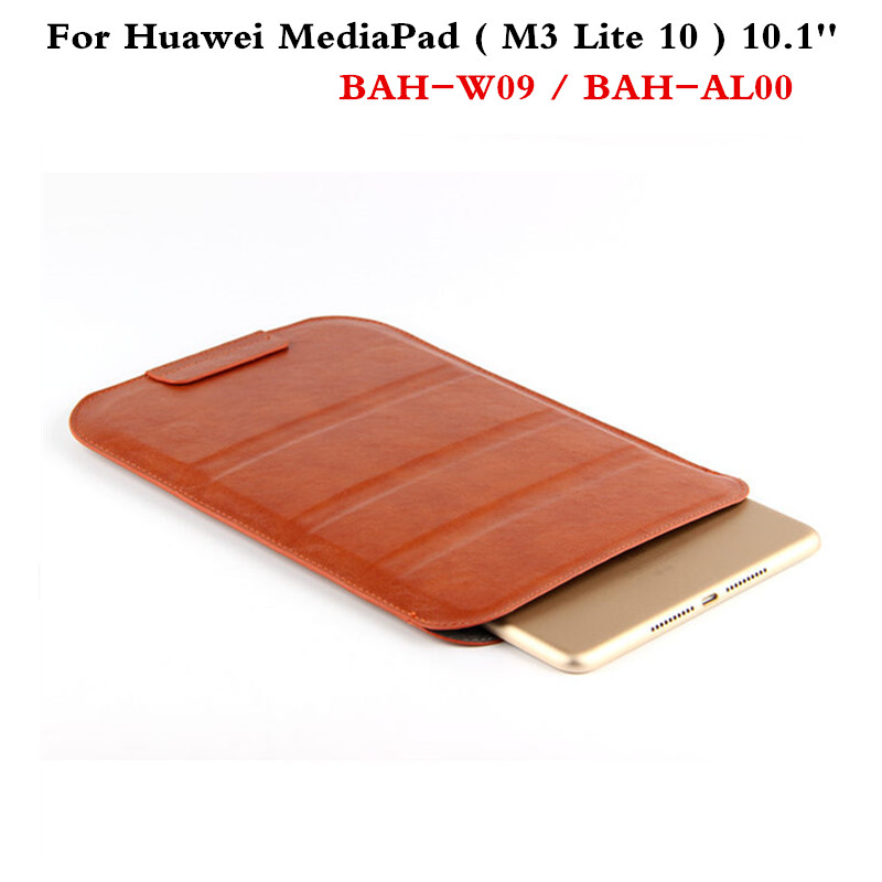 PU Leather case sleeve super slim cover Pouch Bag Sleeve Bag Cases For Huawei MediaPad M3 Lite 10 BAH-W09 BAH-AL00 10.1'' Tablet luxury pu leather cover business with card holder case for huawei mediapad m3 lite 10 10 0 bah w09 bah al00 10 1 inch tablet