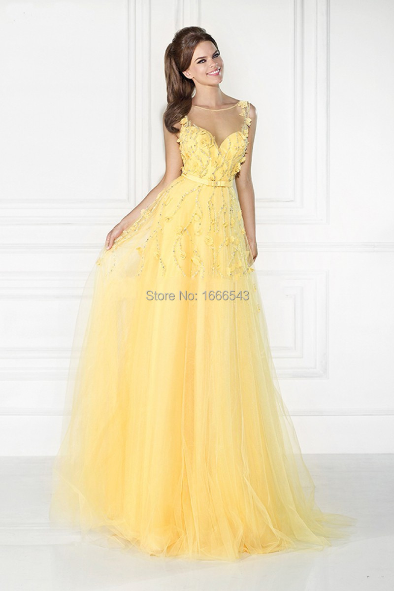 Buy Yellow beautiful prom dresses photo pictures trends