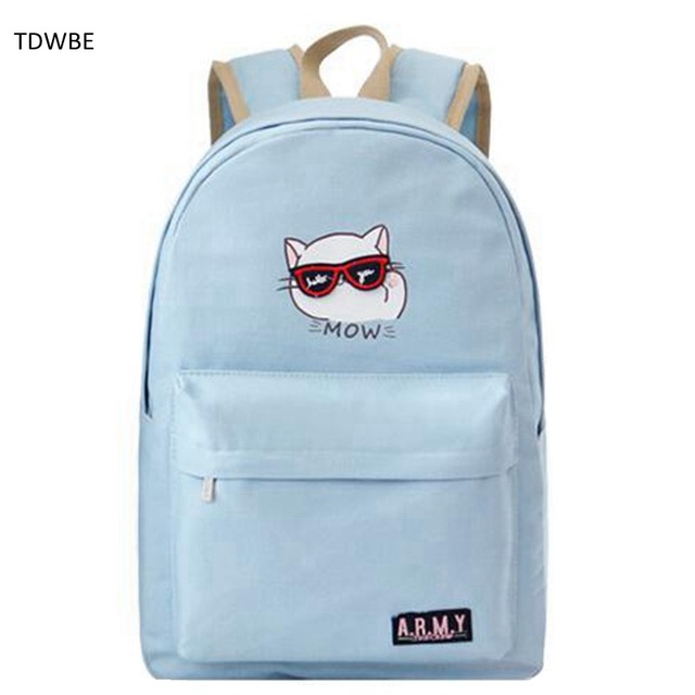 2018 New Arrival Women Canvas Backpack School Bags for Girls Ladies  Teenagers Fashion Casual Travel bag Schoolbag Backpacks 8c84602839acd