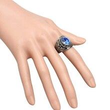 Men's Women's Punk Titanium Steel Band Rhinestone Finger Ring Jewelry Charm