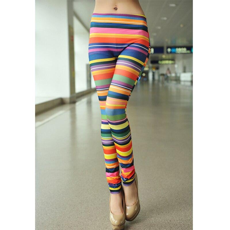 Colorful Striped Leggings