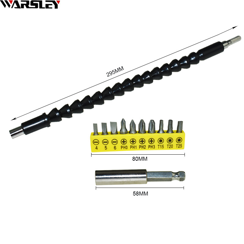 295mm Screwdriver Bit Holder flex shaft Connect Link Extention electric power tool accessories Electric Drill Flexible Shaft Bit ootdty 1 4 inch right angle driver screwdriver angled bit holder fr power drill tool