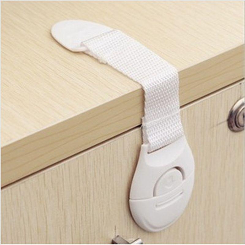 5pcs/lot Baby Lock Child Drawers Lock Bendy Door For Kids Refrigerator Baby Safety Door Lock FZ1004