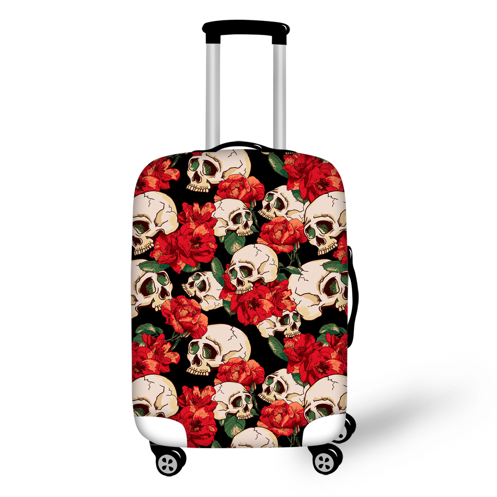 3D Skull Painting Luggage Protector Cover Elasticity Cute Suitcase Cover Luggage Case