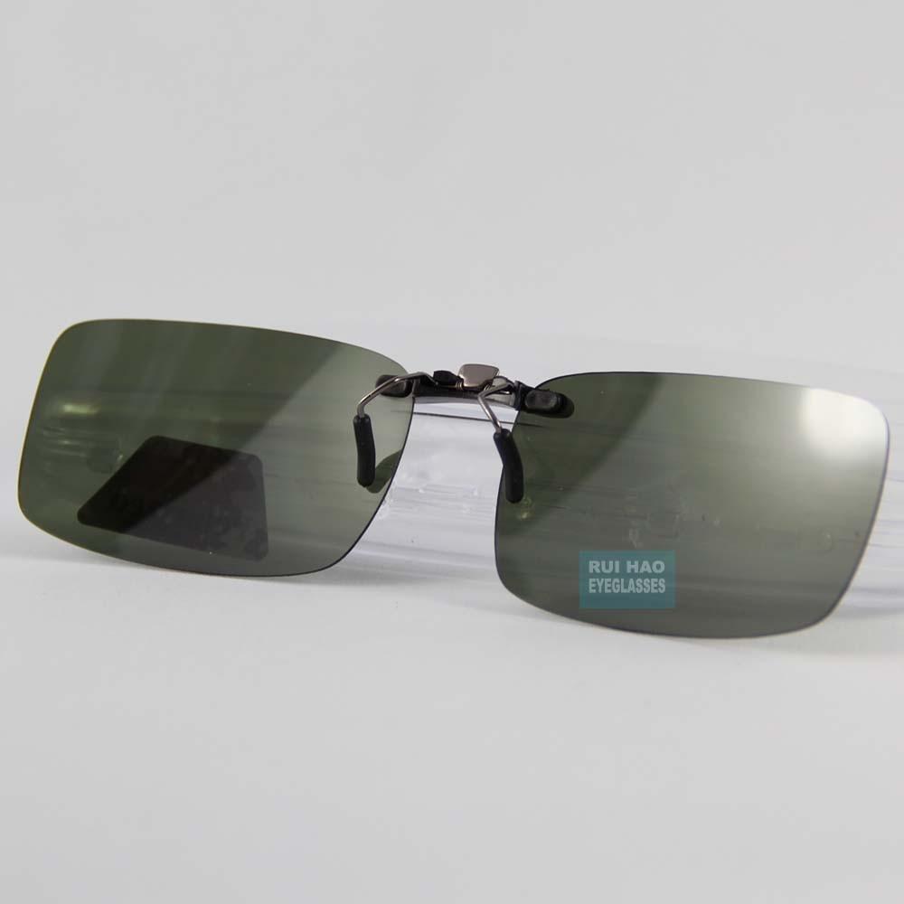 57aebca5765 UV400 Polarized Sunglasses Clip on Light Super Sun Glasses Men Unisex  Eyeglasses Deep Green Lens Aviate Drive Sunglasses Women-in Sunglasses from  Apparel ...